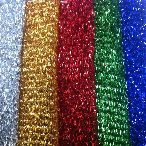 sparkle tinsel lurex fabric material metallic glitter 4