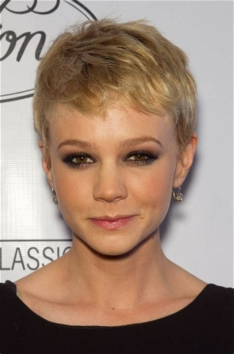short hair wispy in back pixie a very short cut on the sides and back works best with