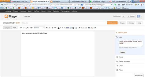 cara membuat blog no 1 di google cara membuat kategori di blog make money in google