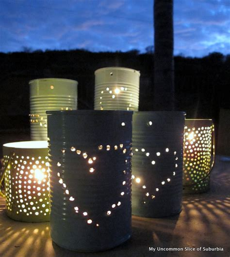 Diy Lantern Lights Diy Tin Can Lanterns