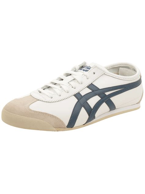 Asics Onitsuka Tiger Mexico Sepatu Sneakers Pria onitsuka tiger by asics mexico 66 sneakers in white poseidon