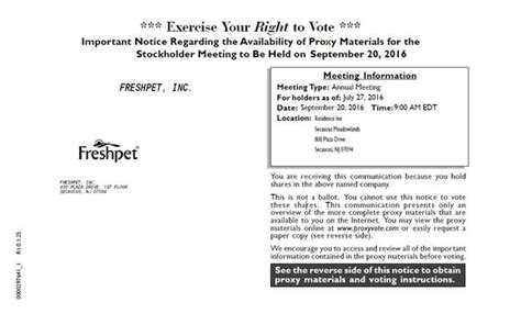 section 162 m limitation exercise your right to vote important notice regarding the