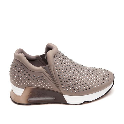 ash lifting womens taupe fabric sneaker ash sneakers
