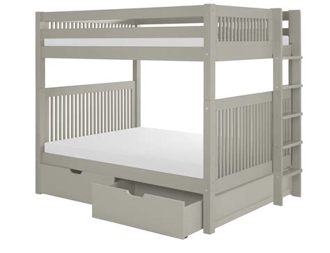 Bunk Beds With Ladder On The End Camaflexi Bunk Bed With Drawers Mission