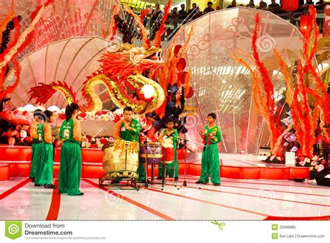new year performance malaysia drum performance to celebrate new year editorial
