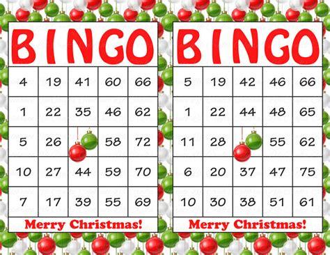 free printable christmas bingo cards numbers 30 merry christmas holiday bingo cards diy