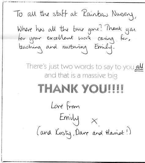 Thank You Letter To Landlord Sle thank you letter to child s sle 28 images up letter to