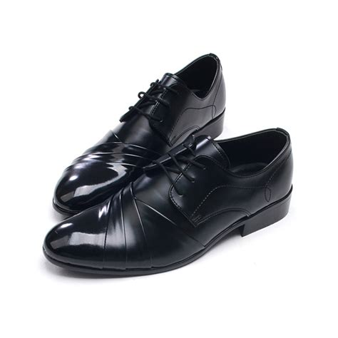 mens chic wrinkles lace up shoes