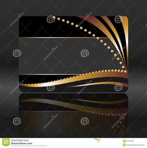 black gift card with golden waves stock photo image 21912640 - Waves Gift Card