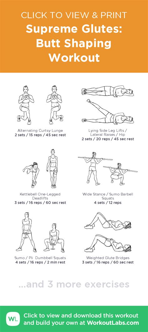 supreme glutes shaping workout click to view and print this illustrated exercise plan