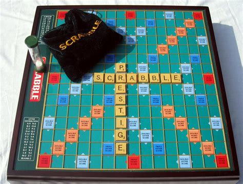 scrabble premier wood edition scrabble brand crossword premier wood edition