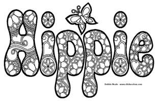 hippie coloring design photos and images clip