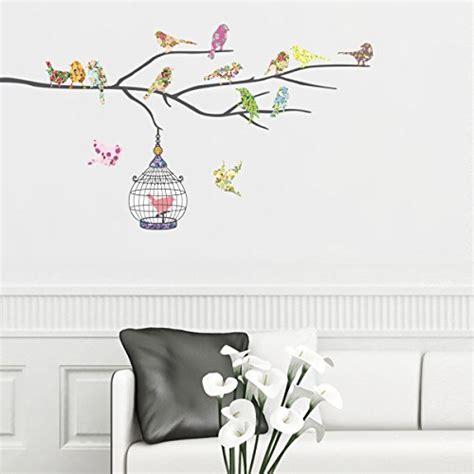 Wall Sticker Birds vinilo decorativo de p 225 jaros y jaula
