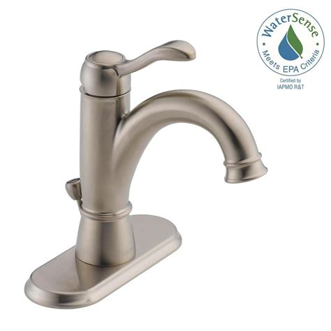 Single Handle Bathroom Faucet by Delta Porter 4 In Centerset Single Handle Bathroom Faucet In Brushed Nickel 15984lf Bn Eco