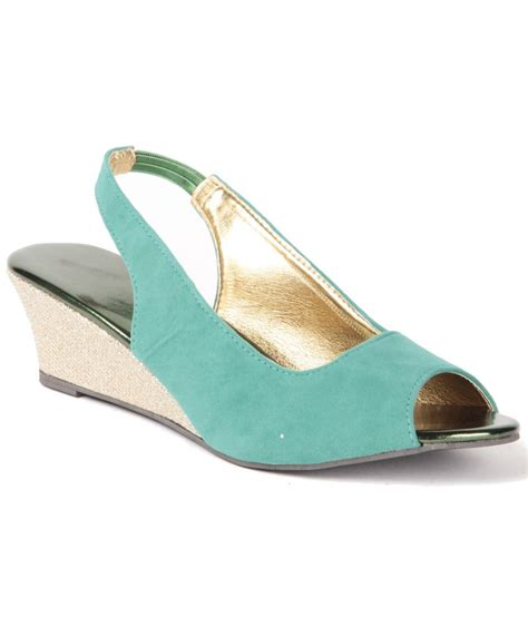 anand archies turquoise wedges sandals price in india buy