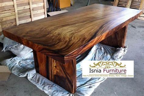 Meja Makan Kayu Getah jual meja makan kayu trembesi solid furniture jepara