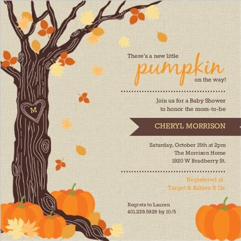 Fall Baby Shower Invites by Fall Baby Shower Ideas Invitations Invite Wording