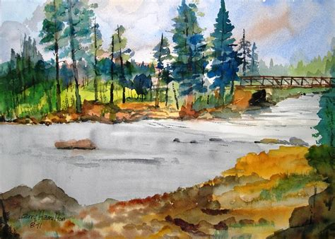 watercolor tutorials larry hamilton montana stream i painting by larry hamilton