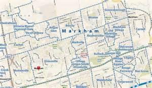 markham canada map markham ontario neighbourhoods