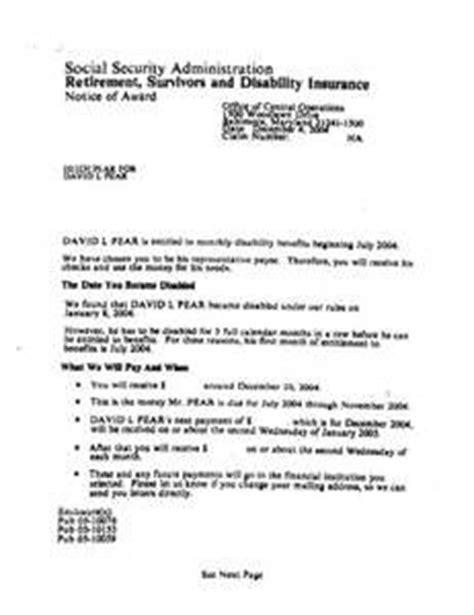 Jrf Award Letter Dec 2013 social security award letter copy letter of recommendation