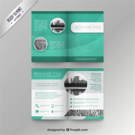 green brochure template green brochure template vector premium