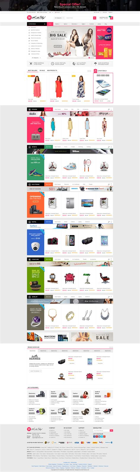 html themes for sale kuteshop multi purpose ecommerce html template by
