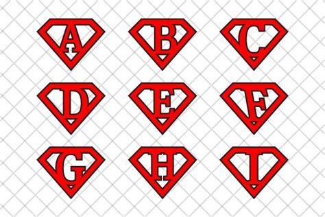 superman alphabet template superman letters v2 illustrations on creative market