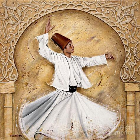 turkey ottoman ottoman dervish on cream painting by carol bostan