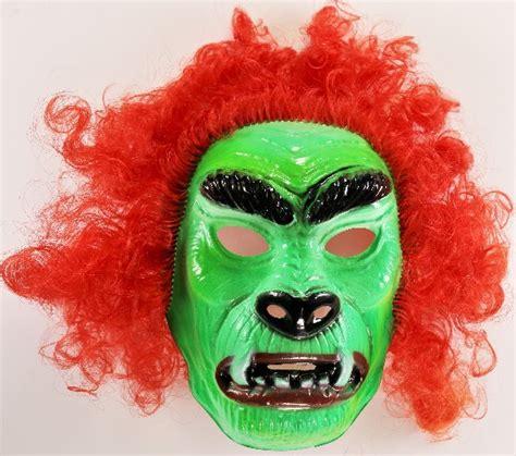 vintage ben cooper hairy scary mask green beast monster