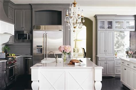white cabinets gray island gray kitchen cabinets with white island