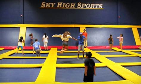 indoor trampoline park sky high sports groupon