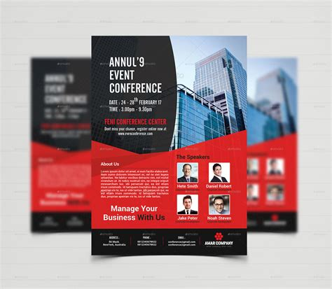 event summit conference flyer template by creative touch