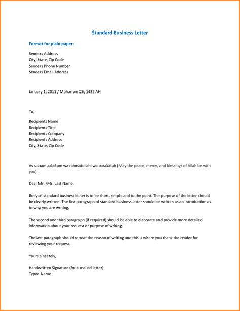 Business Letter Format Template Docs business letter template docs business template