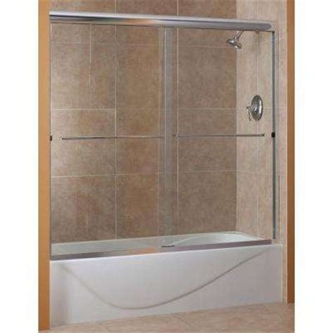 sliding glass shower tub doors clear shower doors showers the home depot