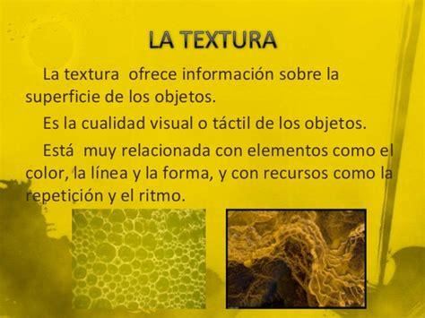 unidad did texturas ii unidad 2 la textura