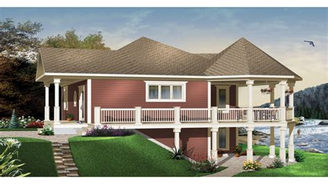 home design for waterfront waterfront house plans with walkout basement mediterranean