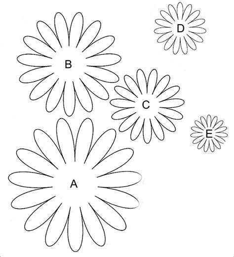 free printable daisy templates coloring beach
