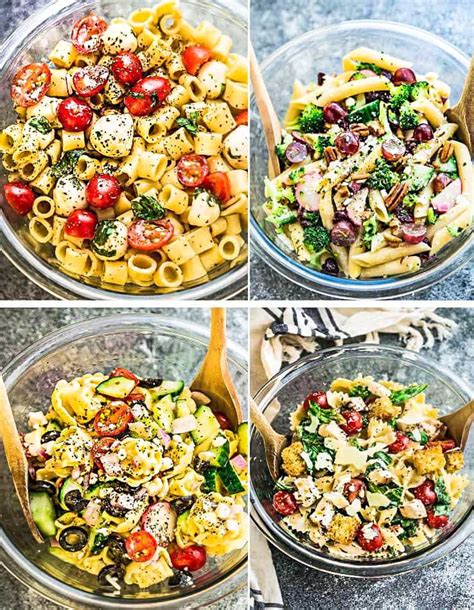 diy best pasta salad recipes diy ideas tips best pasta salads 4 ways meal prep video life made
