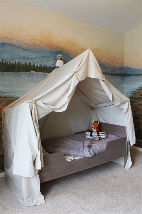 boys bed canopy cing tent bed in a kid s woodland bedroom cool walls