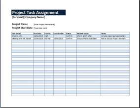 Assignment Report Template project task assignment management sheet word amp excel