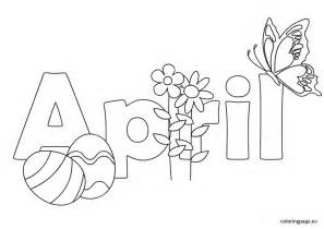 black and white april coloring page