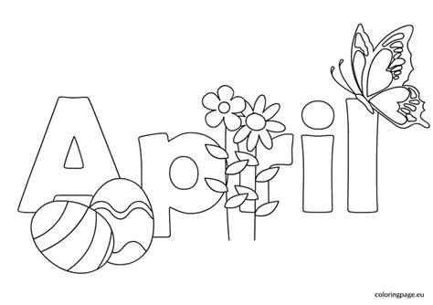 April Coloring Pages April Coloring Pages Printable Coloring Pages