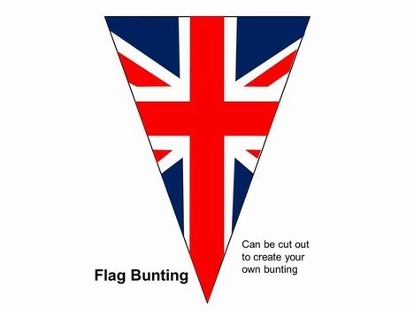 printable england flag bunting bunting powerpoint template