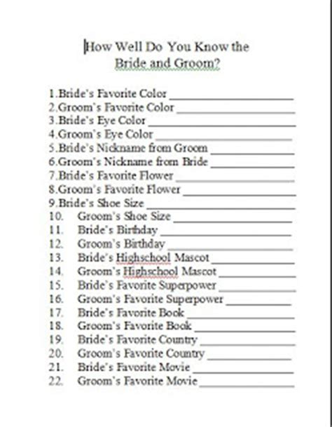 printable couples questionnaire domestic randomness bridal shower games free printables