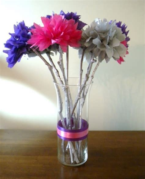 How To Make Centerpieces With Tissue Paper - my diy wedding up my girlish whims