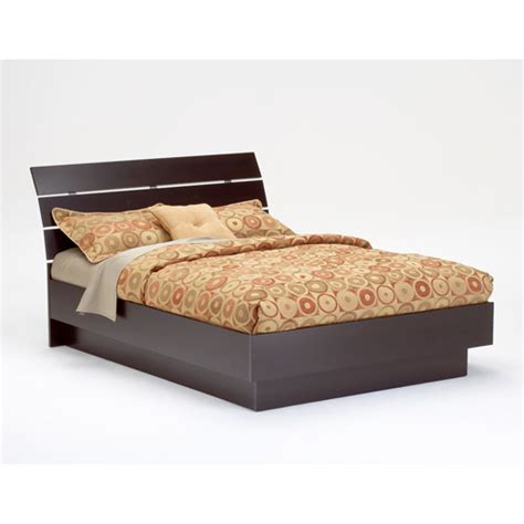 Laguna Queen Platform Bed With Headboard Lacquered