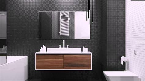 schwarze fliesen schwarze fliesen und holz moderne badezimmer