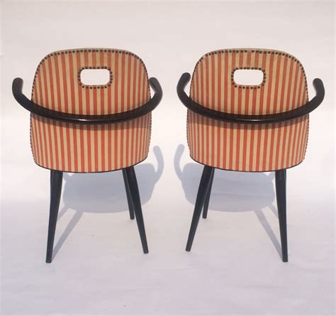 red striped armchair mid century red and white striped armchairs galleria62