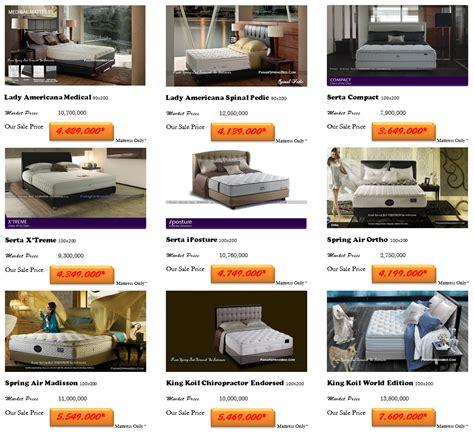 harga spring bed kasur termurah  indonesia toko  spring bed tempat tidur murah