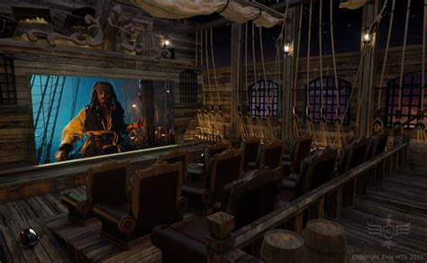 themes in the black pearl batman pirates themed home movie theaters bit rebels